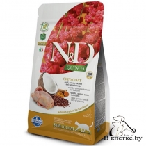 Корм Farmina N&D Quinoa Cat Skin & Coat Перепел