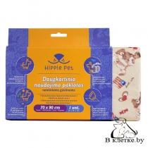 Пеленка многоразовая для животных Hippie Pet с медвежатами