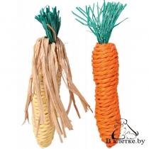 Игрушка для грызунов Trixie «Морковь и кукуруза»