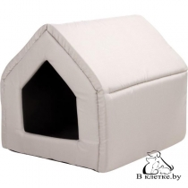 Домик-будка для кошек и собак Exclusive M бежевый