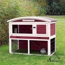 Клетка для кроликов c загоном Trixie natura 124x104x75см красно-белая