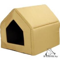 Домик-будка для кошек и собак Exclusive S желтый