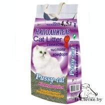 Наполнитель для туалета Pussy-cat Комкующийся 4,5л