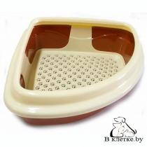 Угловой туалет для кошек Dogman «Триплекс»