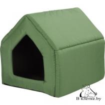 Домик-будка для кошек и собак Exclusive L зеленый
