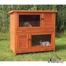 Клетка для кроликов c загоном Trixie утеплённая natura 116x113x65см