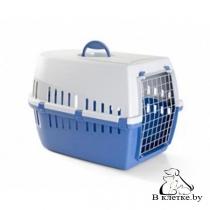 Переноска Savic Trotter 1 для кошек синяя/серая