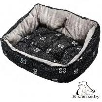 Лежак с подушкой Rogz Trendy Pod Black Bone