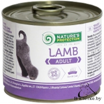 Консервы для собак Nature's Protection Adult Lamb, 800гр