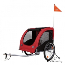 Велоприцеп Trixie M красный макс.нагрузка 30кг