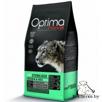 Корм Optima Nova Cat Sterilized Chicken & Rise