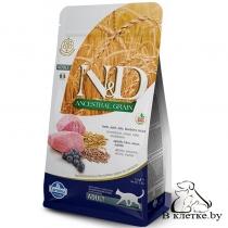 Корм Farmina N&D Low Grain Adult Cat Ягненок и Черника