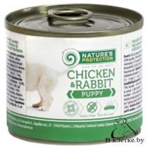 Консервы для щенят NP Puppy Chicken & Rabbit, 200гр