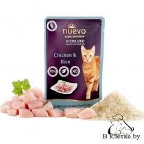 Паучи для стерилизованных кошек Nuevo Sterilized Chicken & Rice, 85гр