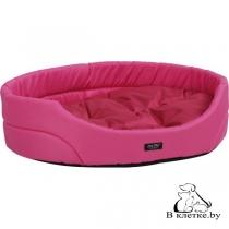Лежак овальный для домашних питомцев Exclusive S розовый
