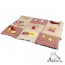 Лежанка для кошек и собак Trixie Patchwork-80 бежевая